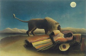 """The Sleeping Gypsy"" by Rousseau"